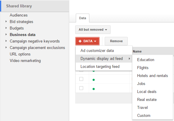 adwords dynamic remarketing business data upload
