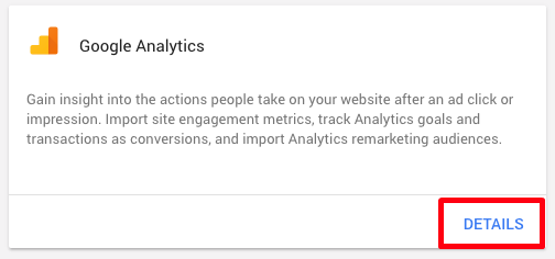 Link adwords and google analytics via adwords