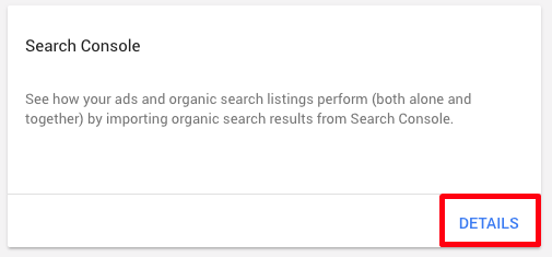 adwords link to search console