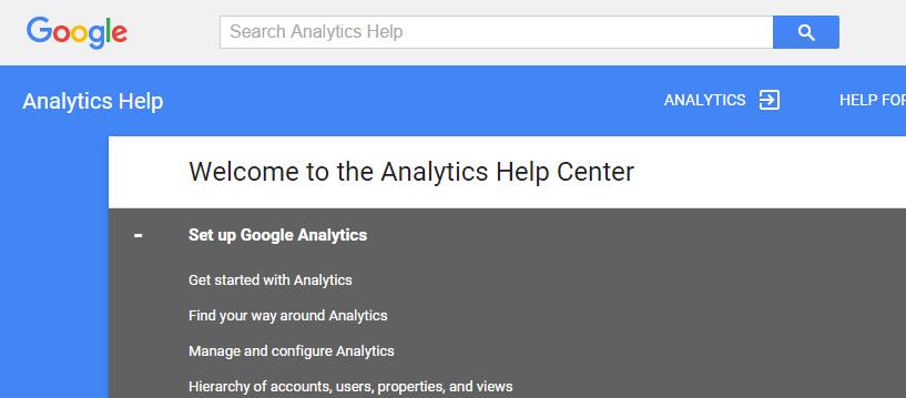analytics help