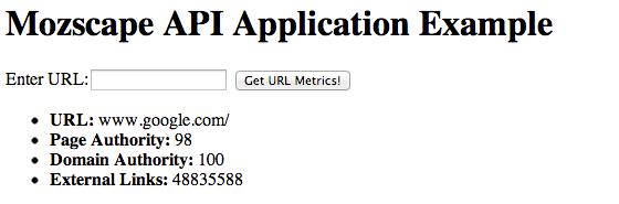 URL Metrics for Google