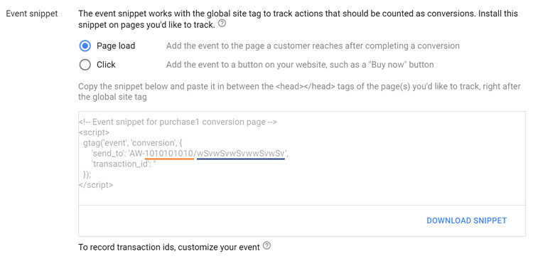 AdWords GTAG Conversion