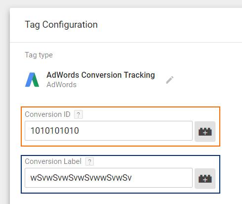 AdWords Conversion Tag GTM