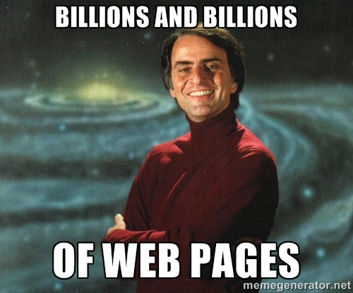 billions and billions of web pages