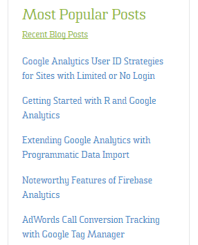 Google Analytics-Fed Sidebar