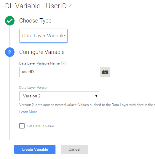 data layer variable for User-ID