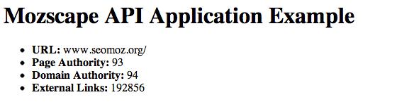 Mozscape Application Thus Far