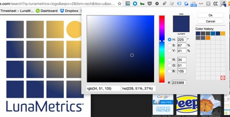 Color picker chrome extension