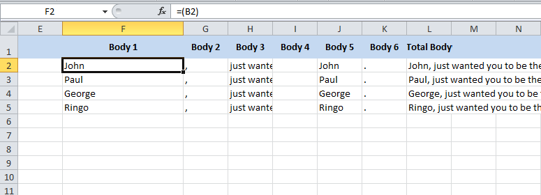Using Excel to create pitch letters