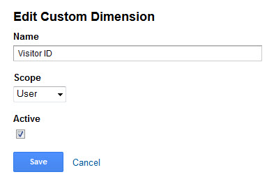 Custom Dimension