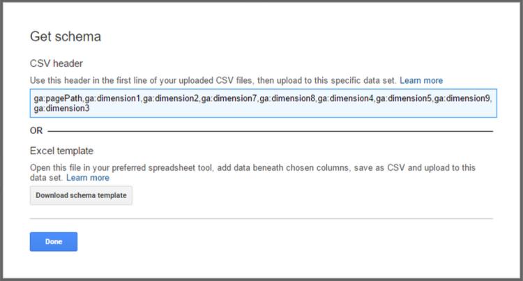 Data Import Schema