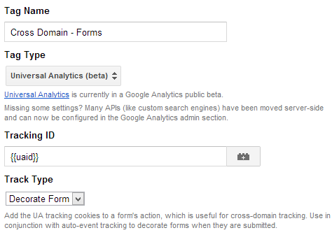 Bounteous Tracking Tag With Manager Google Cross-domain