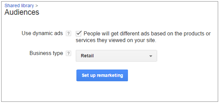 create a remarketing audience