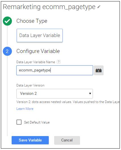 remarketing data layer variable