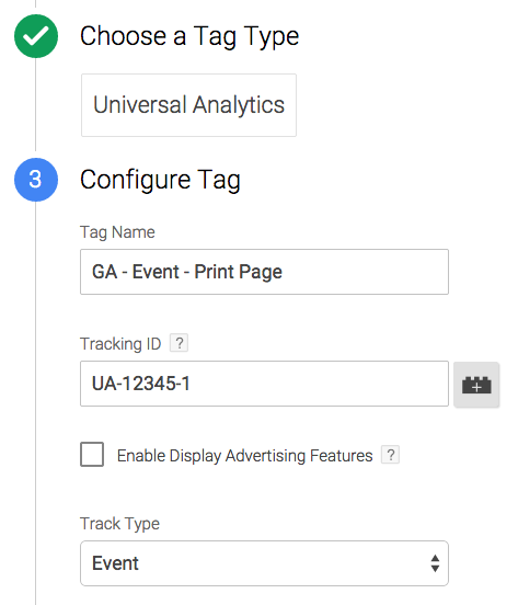 event tracking tag