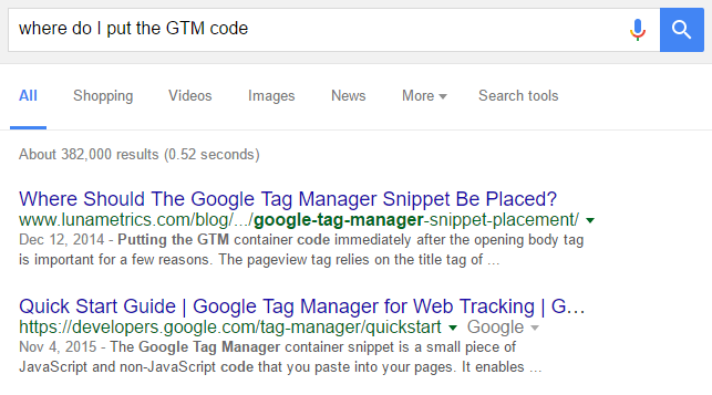 example of search result