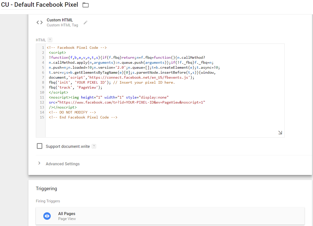 How To Implement Facebook Pixel Using Google Tag Manager | Bounteous