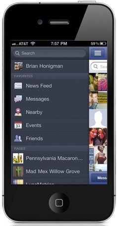 facebook page management iphone
