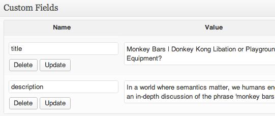 title and meta description custom fields