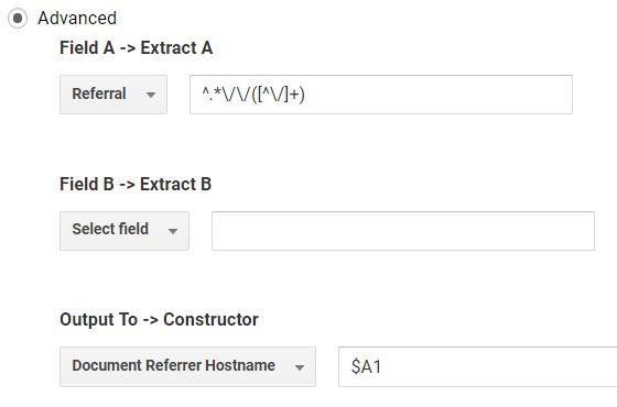 Google Analytics Filter Referrer Hostname