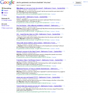 Site Search Results and Article Ideas
