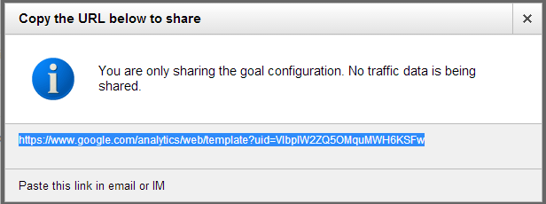 share goal configuration