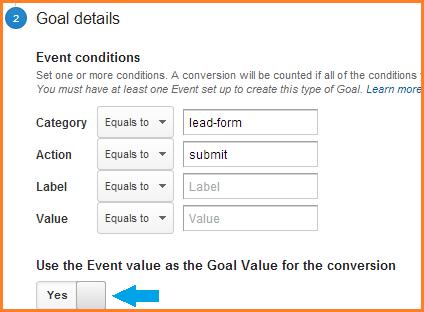 event goal dialog