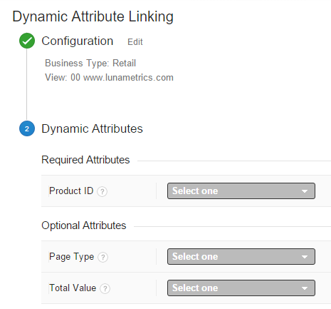 google analytics dynamic remarketing attributes
