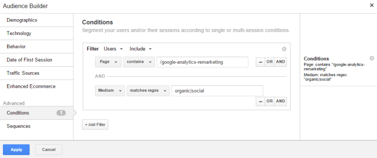 google analytics search remarketing rlsa