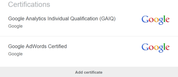 Image of Google certifications to change careers.
