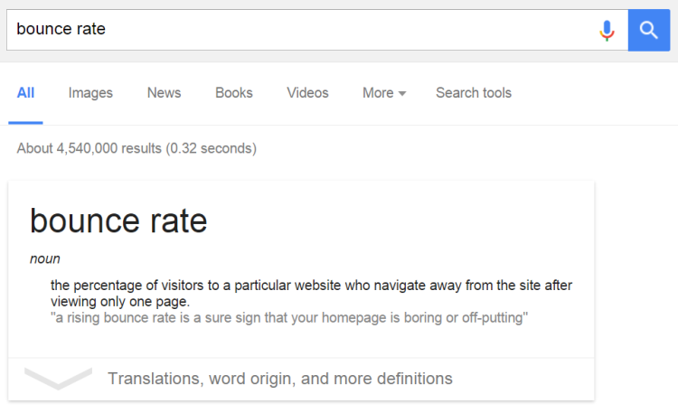 google-search-bounce-rate
