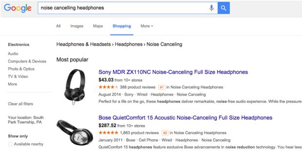 google shopping reviews