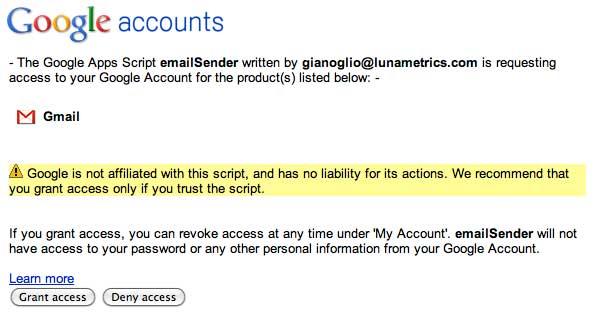 Grant Access - Google Apps Script