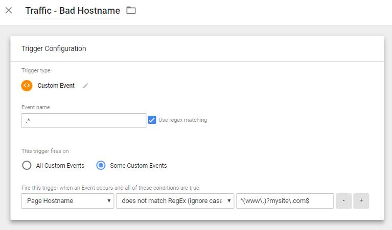 Google Tag Manager Hostname Trigger