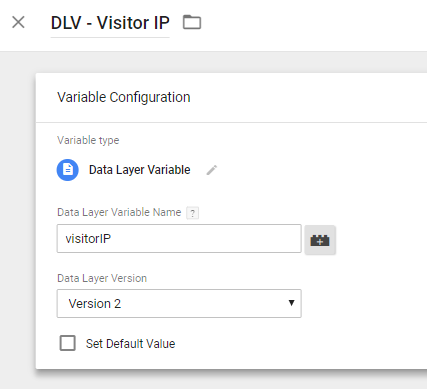 Google Tag Manager Visitor IP
