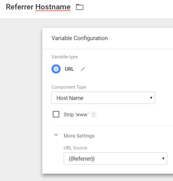 Referrer Hostname Google Tag Manager