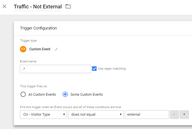 Google Tag Manager Not External Traffic