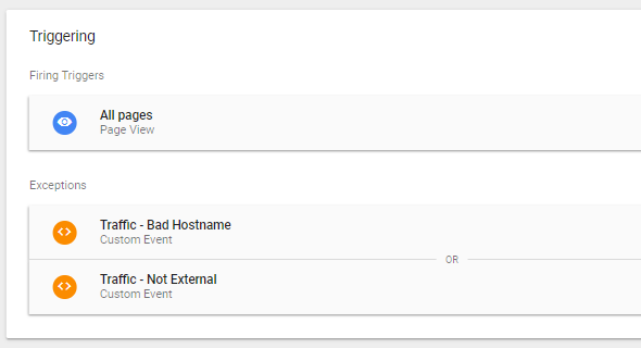 Google Tag Manager IP Exclude
