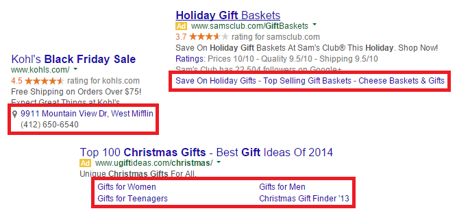 AdWords Ad Extensions for Holiday PPC