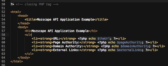 displaying url metrics to the browser