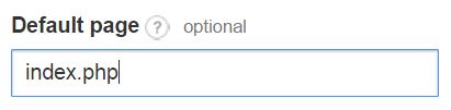 default page setting in Google Analytics