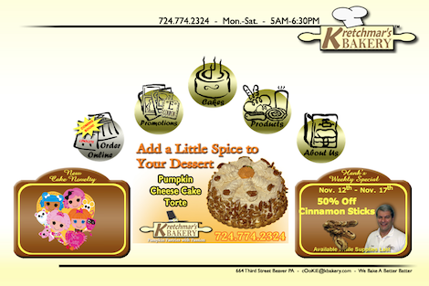 kretchmar's bakery home page