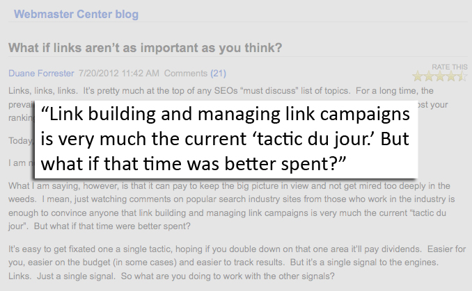Bing asks if link building time would be better spent