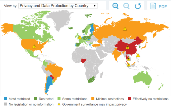 privacy and data protection by country world