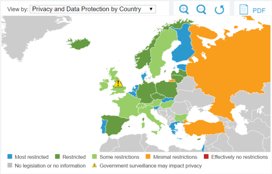 privacy and data protection by country europe