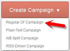 MailChimp - Create a Campaign