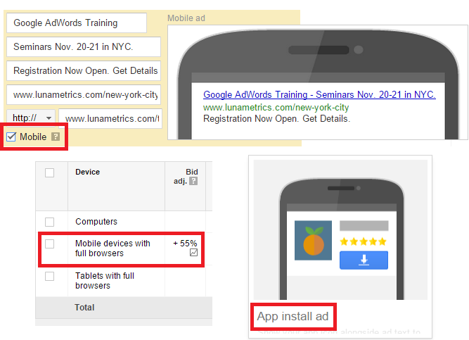 AdWords Mobile PPC Features