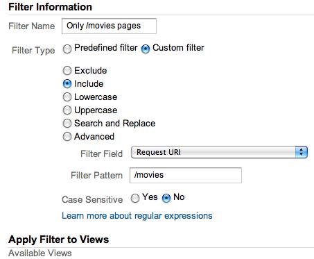profile filter