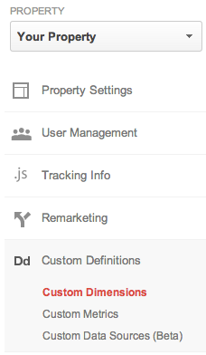 property-admin-custom-dimensions