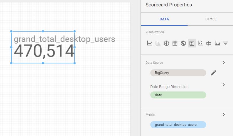 report widget example